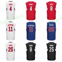 Wholesale Rivers Blue - Cheap 8 Jeff Green 4 J.J JJ Redick Jersey J J 2016 Printed Sale 11 Jamal Crawford Shirt 25 Austin Rivers Uniforms Team Blue Red Black White