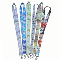 Wholesale Totoro Cell Phone Straps - New Fun 6 Styles Cartoon Lanyard My Neighbor Totoro Anime Key Cell Phone ID Card Neck Slings Straps Gifts Lanyards