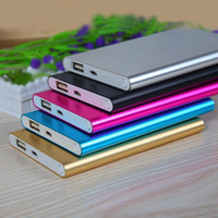 Wholesale External Battery Dhl - Ultra thin slim powerbank 8800mah Ultrathin power bank for mobile phone Tablet PC External battery DHL free shipping