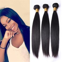 Peruvian Indian Malaysian Mongolian Cambodian Brasileña Virgen Straight Hair Weave Bundles Remy Pelo Humano Natural Color 1B