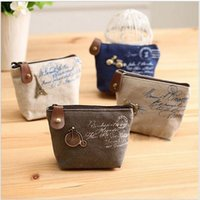 Wholesale Cheapest Purses - Ladies Cheapest Designer Brand Canvas Classic Retro Small Change Coin Purse Clasps Little Key Car Pouch Money Bagkids Purses Owls