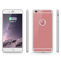 Wholesale Uk Iphone Case - QI Wireless Charger Receiver Case For iPhone 7 6 6S Plus Adapter 5V 1A Charging Case With Gold Silver Rose Gold, Black Colors