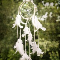 Wholesale white dream catchers for sale - Group buy Lace Dream Catcher Car Family Ornaments White Dreamcatcher Windbell Craft Gift Hanging Decoration Hot Sell ys B R