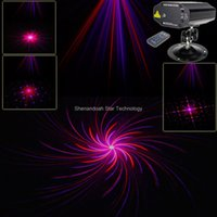 Wholesale Disco Party Laser Remote - New Red Purple Laser remote 8 patterns Projector Effect Lighting Light Shop DJ Club Dance Disco Bar Xmas Home Party Stage Lights Show B166