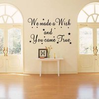 Wholesale Made Wish Sticker - We Made A Wish Wall Quotes Decal Removable Stickers Bedroom Sitting Room Decor Vinyl Art Kids Nursery