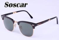 Wholesale Drop Shipping Sunglasses - Soscar Folding Sunglasses Brand Authentic Sunglasses Sports Men Designer Sunglasses UV400 High Quality Glasses 51mm Drop Shipping