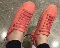 zapatos ss al por mayor-Zapatos de ocio de metal de cuero de la moda SS con espejo plano de metal con cordones zapatos de flor de metal zapatos de charol al aire libre para mujer