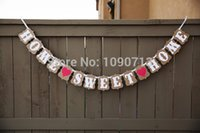 Vente en gros- Livraison gratuite 1 X Handmade ACCUEIL SWEET HOME Wedding Bunting Banner Photo Props Party Decoration Prop