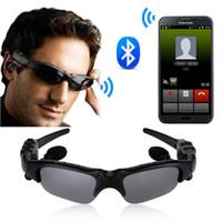 Wholesale Sunglasses Ear - Hot Selling Sport Sunglasses Bluetooth 4.1 Headset Stereo Music Earphone Sun Glasses Micphone for Sport Driving