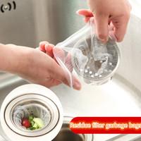 ingrosso filtri di scarico per lavandino da cucina-100 pz / pacchetto Sink Drain Hole Cestino di Scolapasta Mesh Usa E Getta Spazzatura Bagno Cucina Rifiuti Cestino Filtro IC558