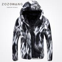 erkeklerin beyaz deri ceket toptan satış-Toptan-2017 yeni özel kış kürk rahat erkek vahşi kalın kürk Deri çim siyah ve beyaz moda!