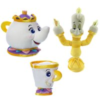 Wholesale Beast Plush Doll - 2017 new 20cm beauty and the beast plush toy dolls The teapot teacup soft plush ornaments children's toys birthday gifts