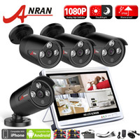 Wholesale New Dvr Surveillance System - New ANRAN Surveillance 4CH 1080P 3 Array IR Day Night Waterproof Outdoor Camera HDMI Kit 12 Inch LCD Screen AHD DVR CCTV Security System