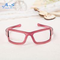 Wholesale Mustaches Glasses - Hot sale glasses shape PC 37 mm decoractive elastic fashion headbands for teenagers 12 pcs bag
