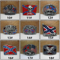 Wholesale Dixie Rebel - New Fashion belts Confederate Southern South Rebel Flags Civil Flag Belt Buckles Civil War Flag Belt Buckles Dixie Flag Buckles C009