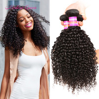 Wholesale Virgin Bulk Kinky - Cheap 7A Brazilian Afro Kinky Curly Human Hair Extensions Brazilian Curly Virgin Hair Weave 3 Bundles Deals Afro Kinky Curly Human Hair Bulk
