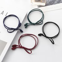 Hot Sale Livraison gratuite Double Strand And Color Stitching Bow Hair Rubber Band Ring Dress Collocation Vente en gros