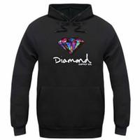 camisola dos hoodies do diamante venda por atacado-Diamante abastecimento co homens moletom com capuz mulheres rua velo camisola quente inverno outono moda hip hop pulôver primitivo