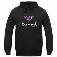 женщина теплый hoodie оптовых-Diamond supply co мужчины балахон женщины улица флис теплый толстовка зима осень мода хип-хоп примитивный пуловер