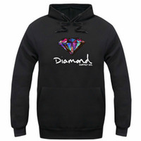 Wholesale street fashion hoodies - Diamond supply co men hoodie women street fleece warm sweatshirt winter autumn fashion hip hop primitive pullover