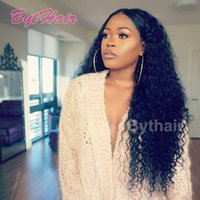 Wholesale Cheap China Outlets - Bythair Cheap Brazilian Indian Deep Curly Wave Virgin Human Hair Lace Front Wigs for Black Women China Factory Outlet Full Lace Wig