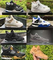 Wholesale Body Game - Retro 4 GS IV Basketball shoes Game Royal Linen Motorsport KAWS Pure Money Black White Grey Men Women 4s Sport Sneakers Gold Medal Shoes