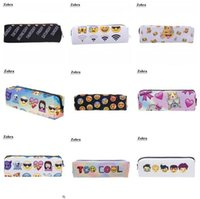 Emoji Pencil Case Make-up Borse Cartoon Emoji Smile Face Matita Custodie Borse da scuola Corea Cancelleria Sacchetto di matita Materiale scolastico Sacchetto cosmetico