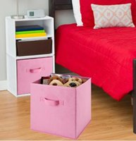 Wholesale Modern Bedding Fabric - 17 Colors Canvas Storage Bins Home Textile Canvas Box Books And Toys Daily Necessities Stockpile Multifunction Storage Box CCA7725 30pcs
