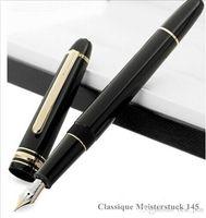 Wholesale Stainless Steel Fountain Pen Nib - Classique MB Meisterstuck Legend Monte black 145 fountain pen Elegant Unique writing ink pen 4810 14K M nib