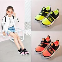 Wholesale Girl Sport Cloth - 2017 autumn new children's sports shoes girls spring and autumn casual running shoes stretch cloth breathable soft bottom shoes