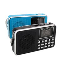 estéreo portátil recargable al por mayor-Venta al por mayor-portátil de paquetes Mini FM Radio LED de altavoces estéreo USB U Disco / TF Micro SD Card MP3 Player