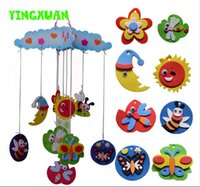 Atacado DIY Handmade Wind Chimes Hangings Eva Espuma Craft Kits Bee Aerospace Oceano Animal Fruta Decoração Quarto Kids