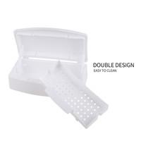 Wholesale Sterilizer Tray - Mini Nail Art Imported Resin Sterilizer Tray Disinfection Box Salon Beauty Manicure Tool Sterilizing Tray Nail manicure Tools 0603080