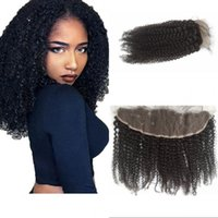 Wholesale virgin frontals - Vietnamese Virgin Hair Frontals 13x4 Ear to Ear Lace Frontal Closure Free Part Kinky Curly Human Hair FDSHINE