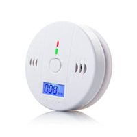 Wholesale Gas Detector For Alarm - CO Carbon Monoxide Detector Alarm System For Home Security Poisoning Smoke Gas Sensor Warning Alarms Tester LCD With Retail Box