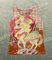 Track Ship + Vintage Vest Tanques Tank Tops Camis Elegant Dream Pink Unicorn Horse Horse Toy 0046
