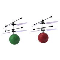 Wholesale Fun Outdoor Lighting - Wholesale- Infrared Induction Flying Ball Toy Helicopter Fun Kids Outdoor Fly Ball Toy LED Light Flashing Toy Cool Birthday Xmas Gift
