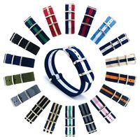 Wholesale Premium Watch Bands - Watch Bands Premium Ballistic Nylon Watch Strap Stainless Steel Buckle 20mm DW Watch Belt Striped Band