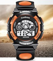 spanish boy - Kids Fashion Sport Watch Student Waterproof Clock LED Colors Backlight Changes Digital Electronic Wrist Watch for Children Boys and Girls