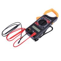 tester ac dc digital klemme meter großhandel-Digital Voltmeter Amperemeter Ohmmeter Multimeter Volt AC DC Tester Strommesszange