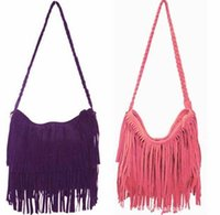 Wholesale Clutch Dropship - Wholesale-European&American Style Star Tassels Bags Hobo Clutch Purses Handbags women Shoulder Tote Women Bags HotSale Dropship