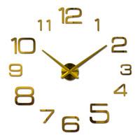 venta al por mayor nuevo reloj de pared de acrlico reloj de cuarzo sala