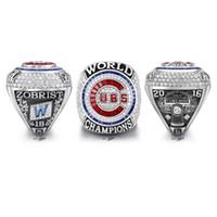 Wholesale Rhinestone Baseballs - 2016 Chicago CUBS Baseball World Championship Rings Size 6-15