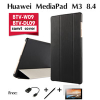 "Wholesale Tablet Pc Protective Holster - Wholesale-For Huawei MediaPad M3 holster BTV-W09 case BTV-DL09 new tablet PC 8.4"" ultra-thin tablet leather protective case shell cover"