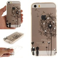 Wholesale Diamante Iphone Covers - Diamond TPU Case Capa Para For iPhone 5 5S SE Cover Diamante Fundas Coque transparent IMD Silicone Mobile Phone Cases