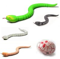 Wholesale Snake Eggs - Wholesale- New Funny Gadgets Toys Novelty Surprise Practical Jokes RC Machine Remote Control Snake And Interesting Egg Radio Control Toys