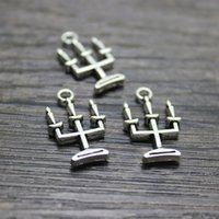 Wholesale Wholesale Silver Plated Candlesticks - 35pcs-- 24 x14mm Spooky CANDELABRA Haunted House Charms Antique Tibetan silver Candlestick Charms pendant
