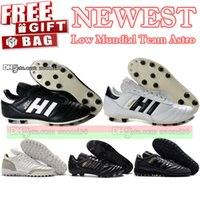 original football teams - Original Mens Mundial Soccer Shoes FG TF Turf Indoor Mundial Team Astro Football Boots Copa Mundial Low Soccer Cleats Black White
