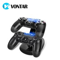 Wholesale Base Dock Station - PS4 Charger Station Stand with Charge Cable for Playstation 4 PS4 Dual Charge Dock for PS4 Controller Charging Base LED