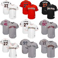 Wholesale Toddler Sale - Wholesale Mens Womens Kids Toddlers Giancarlo Stanton Chris Sale Mookie Betts Aaron Judge Grey White Black Orange 2017 MLB All Star Jerseys